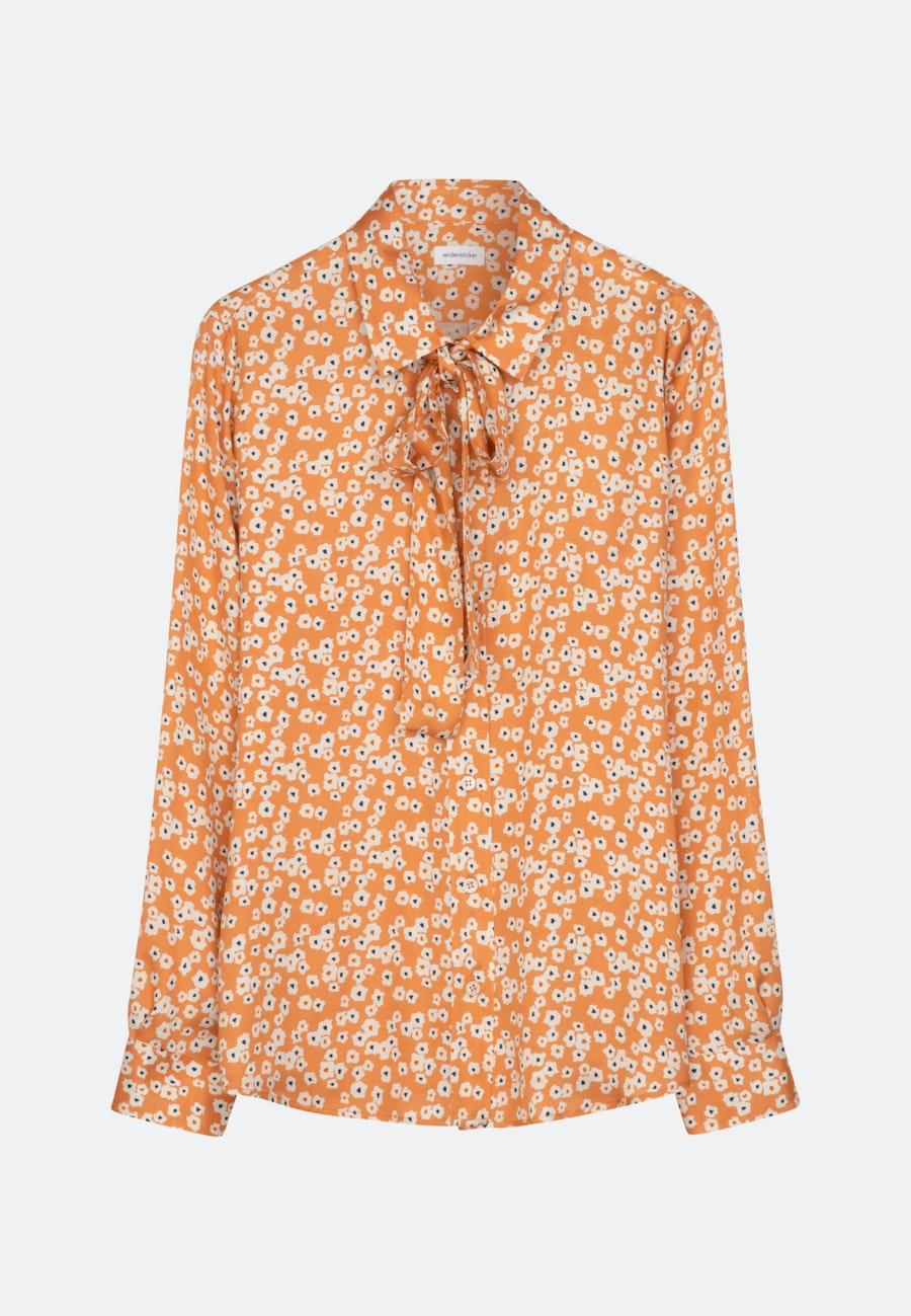 Satin Schluppenbluse aus 100% Viskose in Orange    Seidensticker Onlineshop