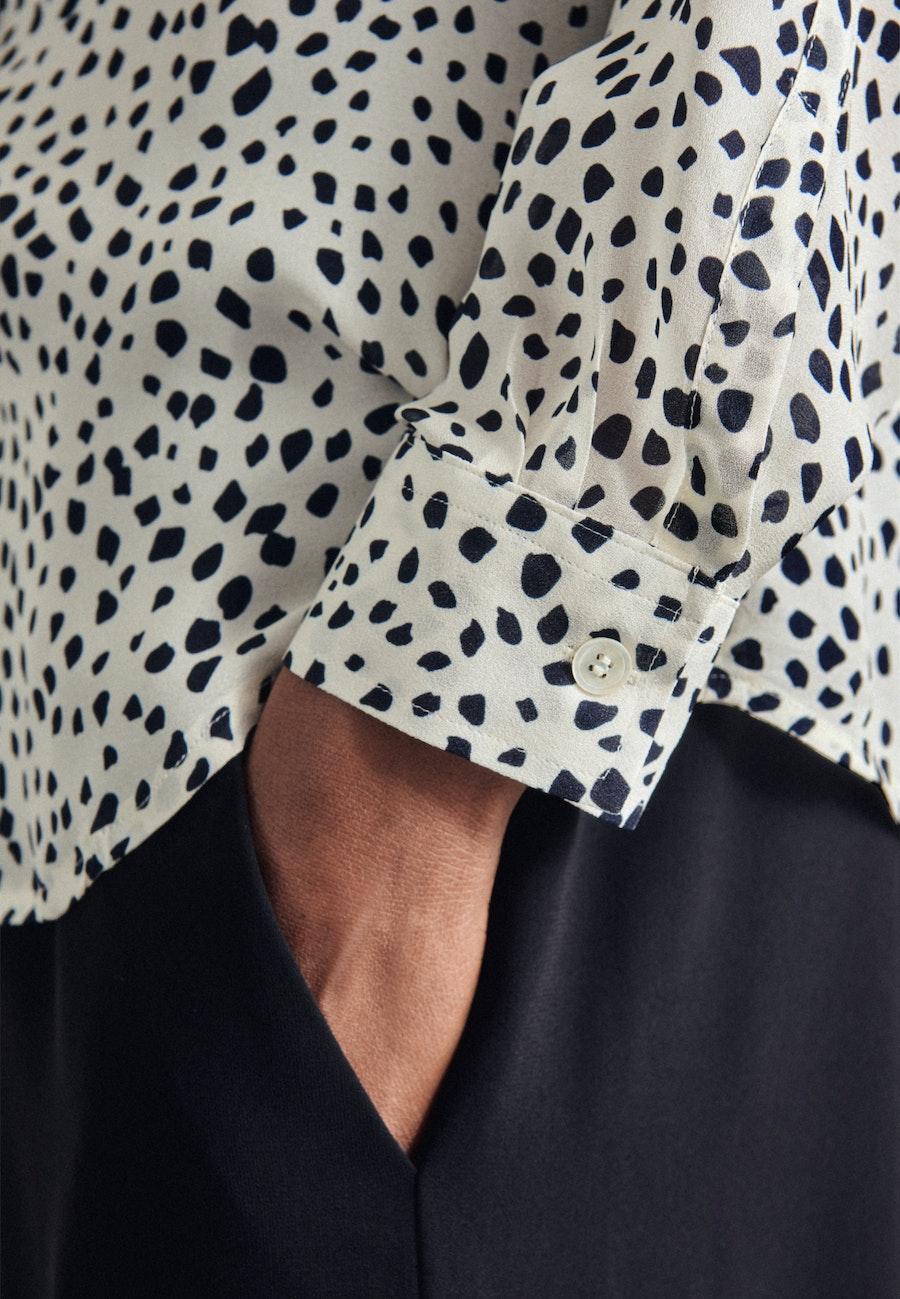 Chiffon Hemdbluse aus 100% Viskose in Ecru    Seidensticker Onlineshop