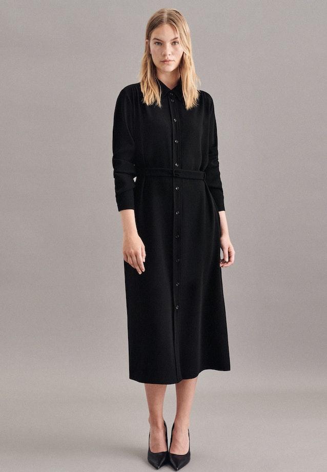 Crepe Maxi Dress made of 100% Polyester in Black |  Seidensticker Onlineshop