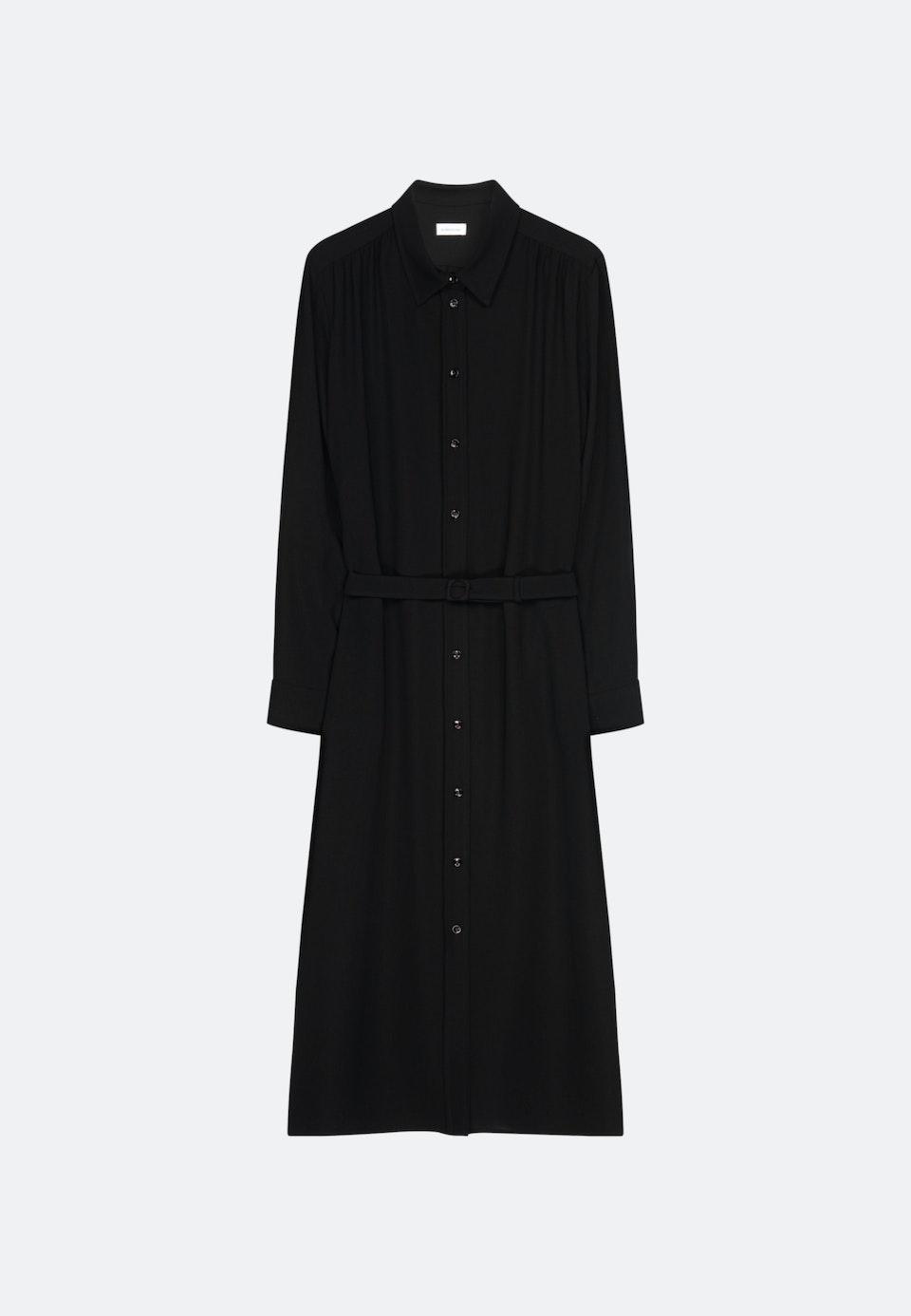 Krepp Maxi Kleid aus 100% Polyester in Schwarz |  Seidensticker Onlineshop