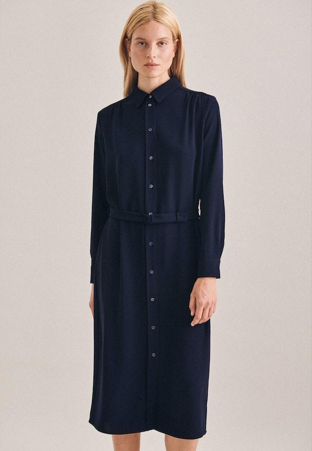 Crepe Maxi Dress made of 100% Polyester in Dark blue |  Seidensticker Onlineshop