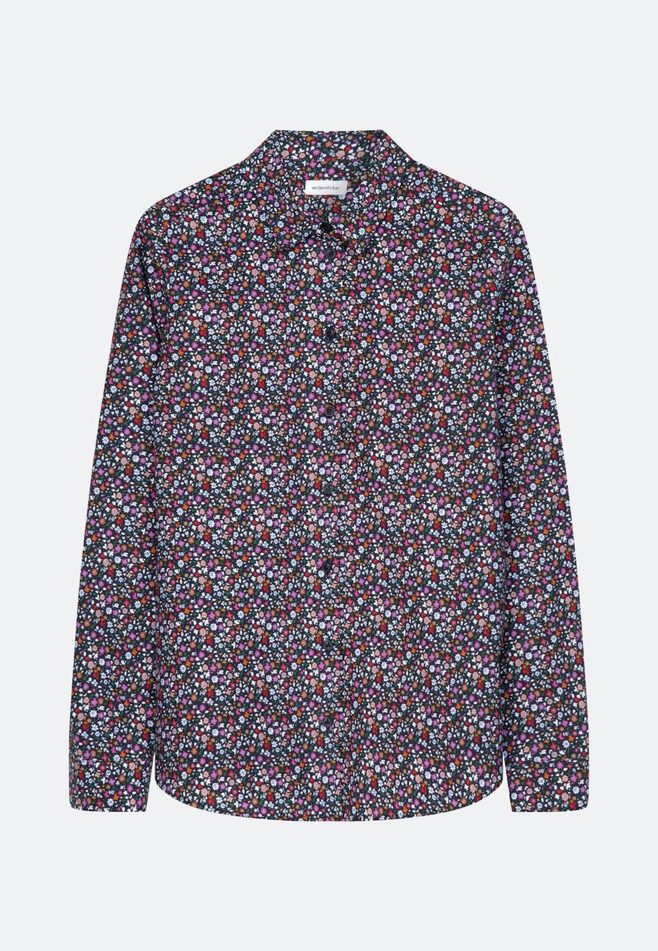 Popeline Hemdbluse aus 100% Baumwolle in Dunkelblau    Seidensticker Onlineshop