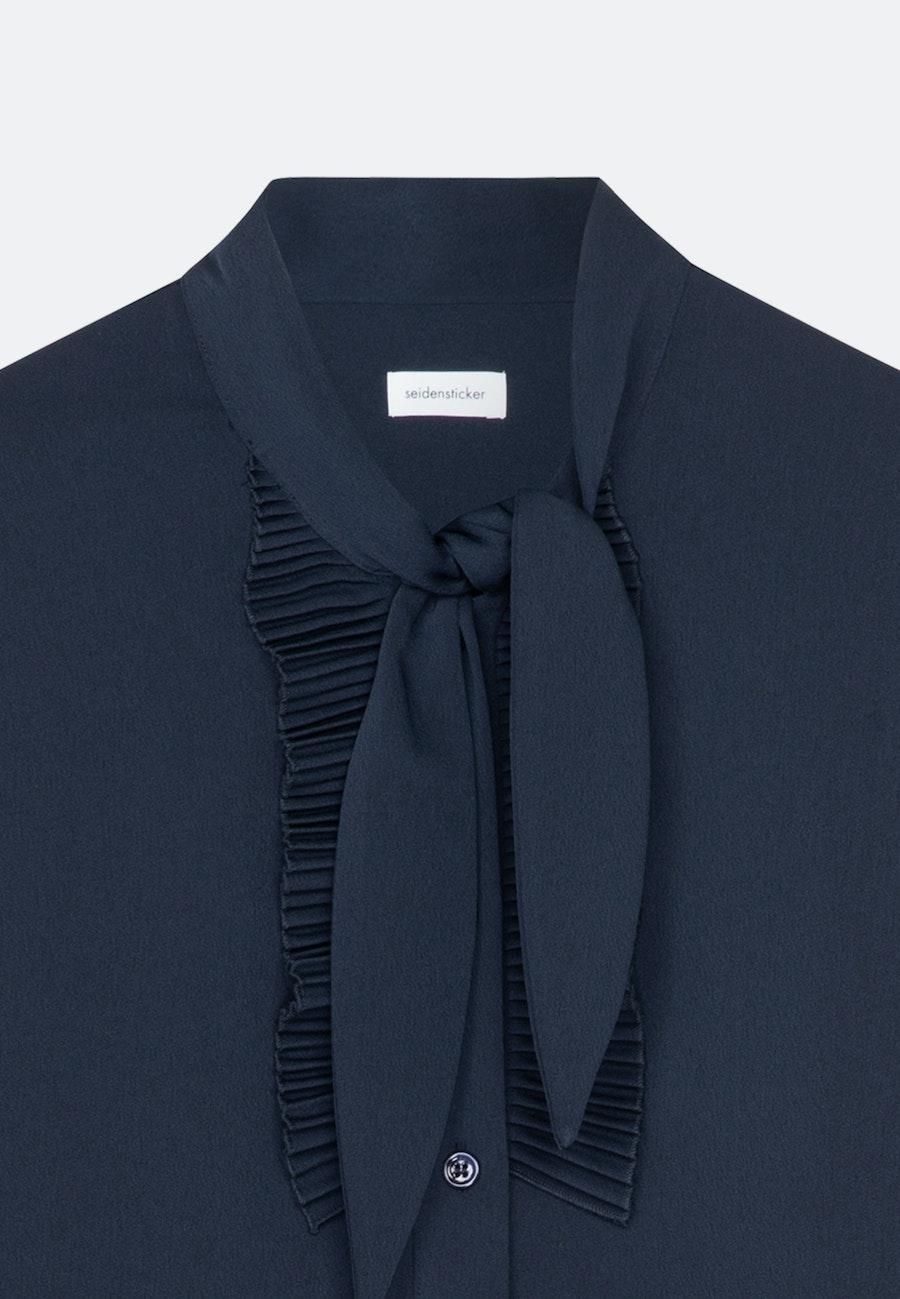 Krepp Longbluse aus 100% Polyester in Dunkelblau    Seidensticker Onlineshop