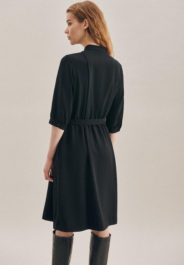 Crepe Midi Dress made of 100% Polyester in Black |  Seidensticker Onlineshop