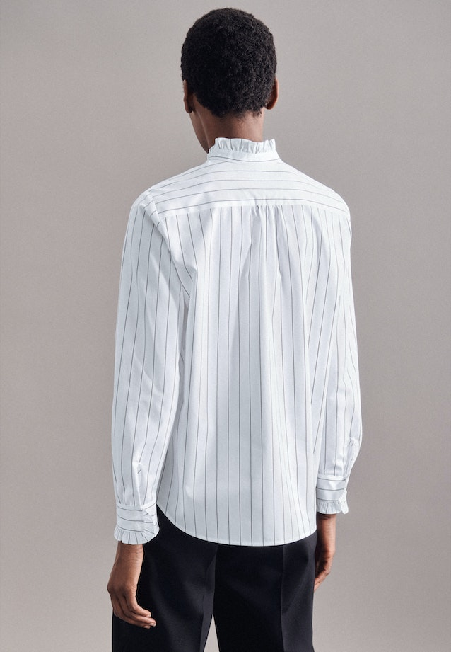 Twill Stand-Up Blouse made of 100% Cotton in White |  Seidensticker Onlineshop