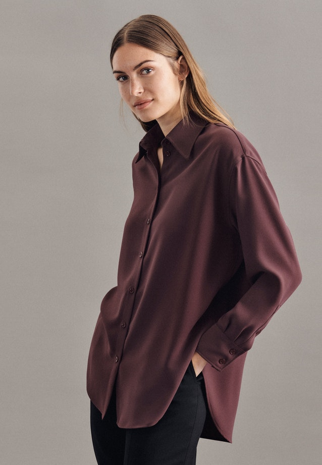 Crepe Long Blouse made of 100% Polyester in Red |  Seidensticker Onlineshop
