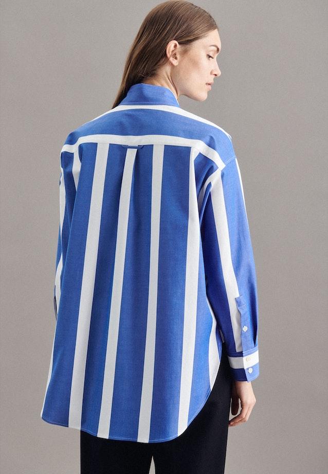 Twill Long Blouse made of cotton blend in Light blue |  Seidensticker Onlineshop