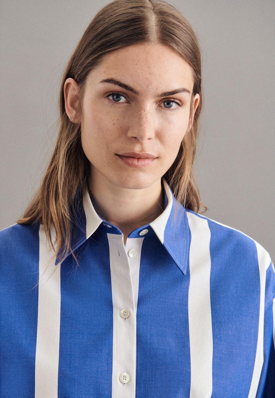 Twill Longbluse aus Baumwollmischung in Hellblau |  Seidensticker Onlineshop