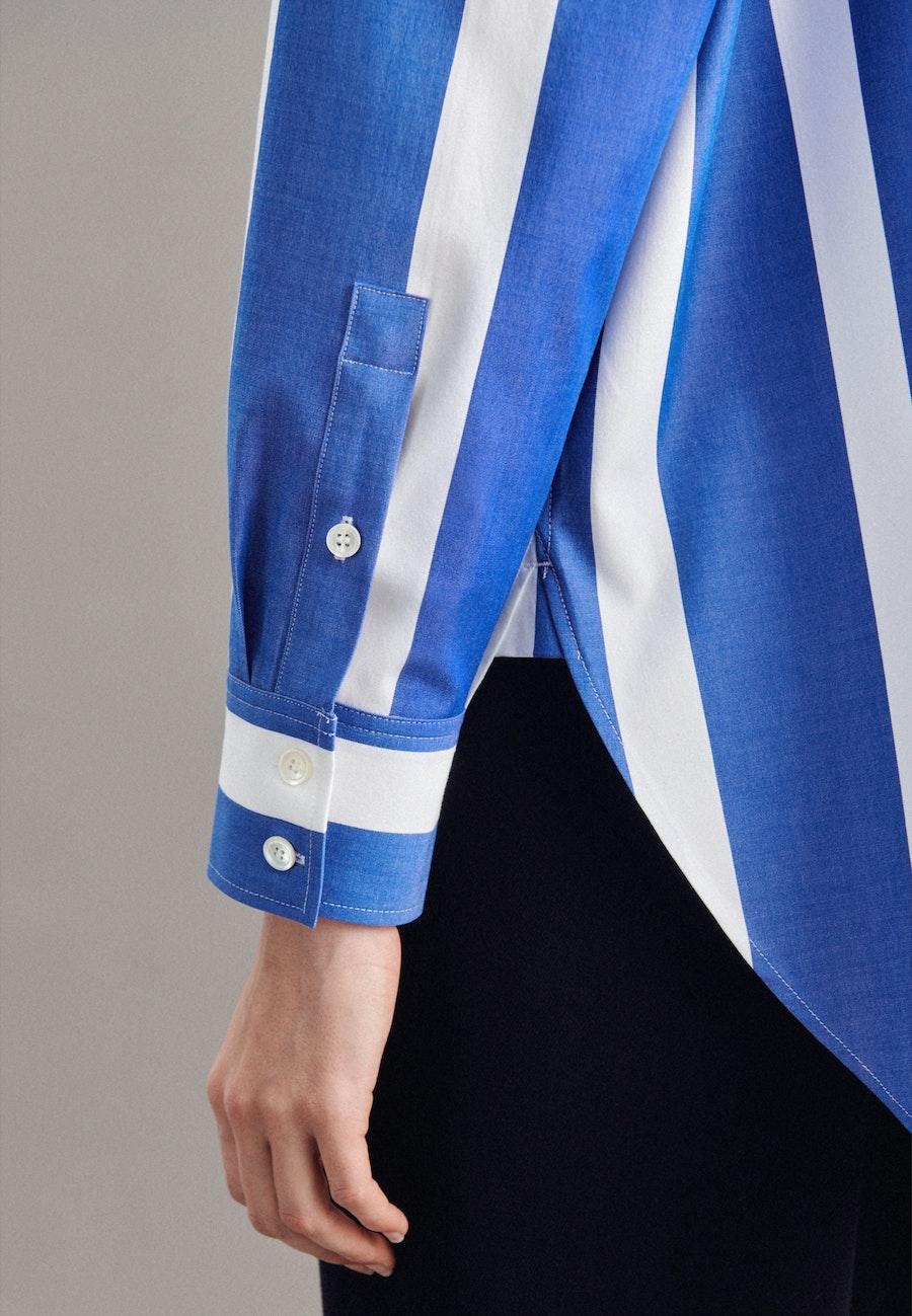 Twill Longbluse aus Baumwollmischung in Hellblau    Seidensticker Onlineshop