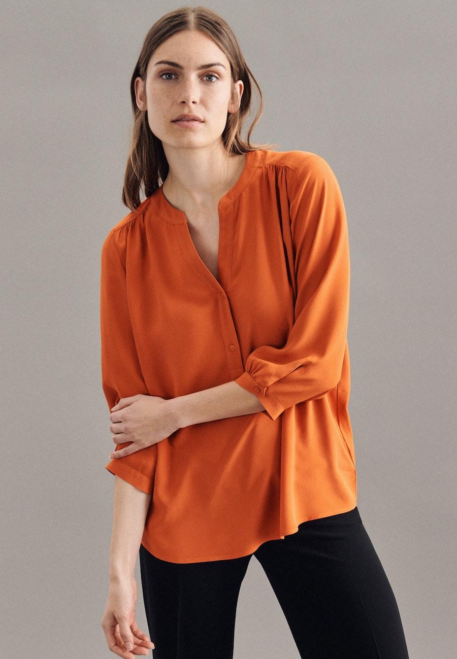 3/4-Arm Krepp Shirtbluse aus 100% Viskose in Orange    Seidensticker Onlineshop