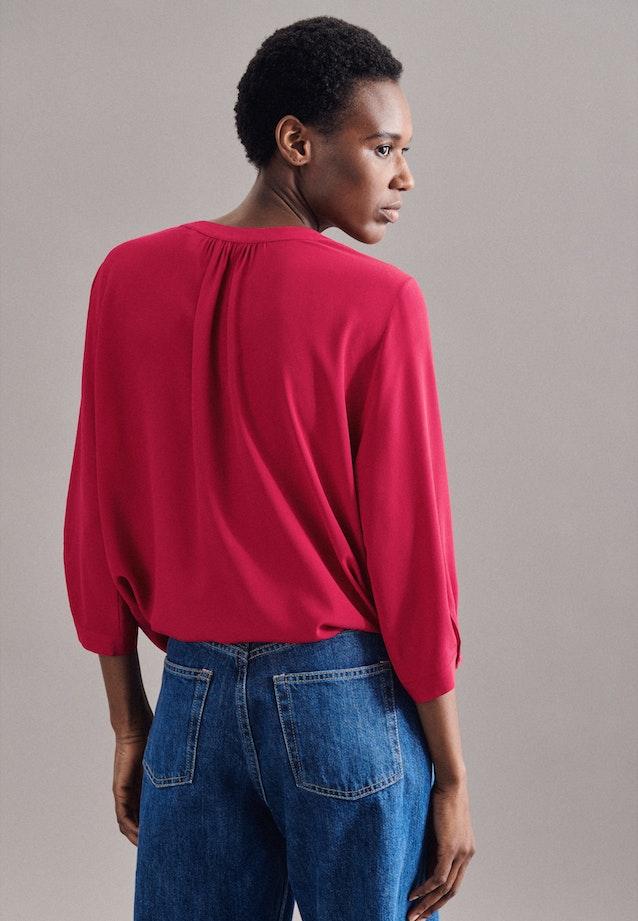 3/4-Arm Krepp Shirtbluse aus 100% Viskose in Beere |  Seidensticker Onlineshop