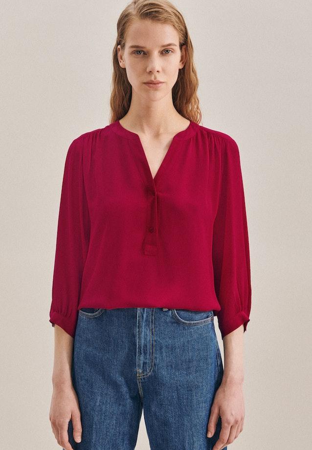3/4-Arm Krepp Shirtbluse aus 100% Viskose in Rot |  Seidensticker Onlineshop