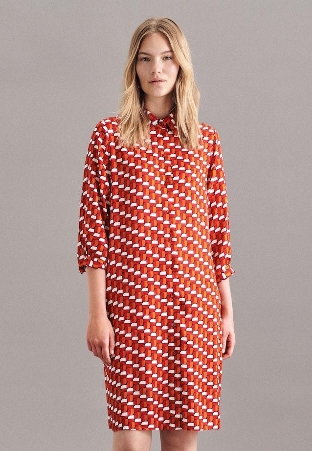 Twill Midi Dress made of 100% Viscose in Red |  Seidensticker Onlineshop