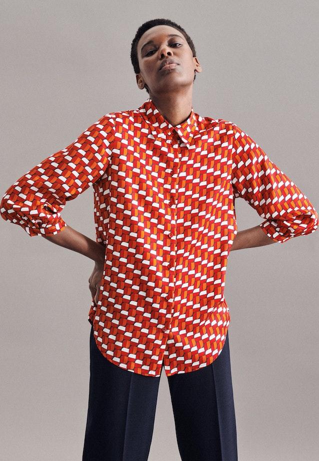 3/4-Arm Twill Hemdbluse aus 100% Viskose in Rot |  Seidensticker Onlineshop