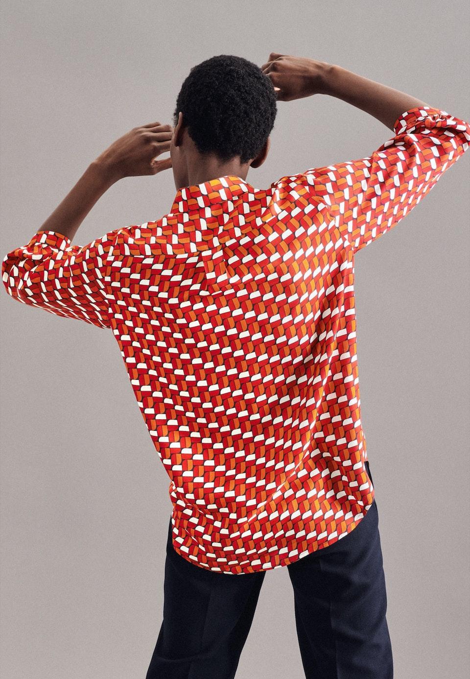 3/4-Arm Twill Hemdbluse aus 100% Viskose in Rot    Seidensticker Onlineshop