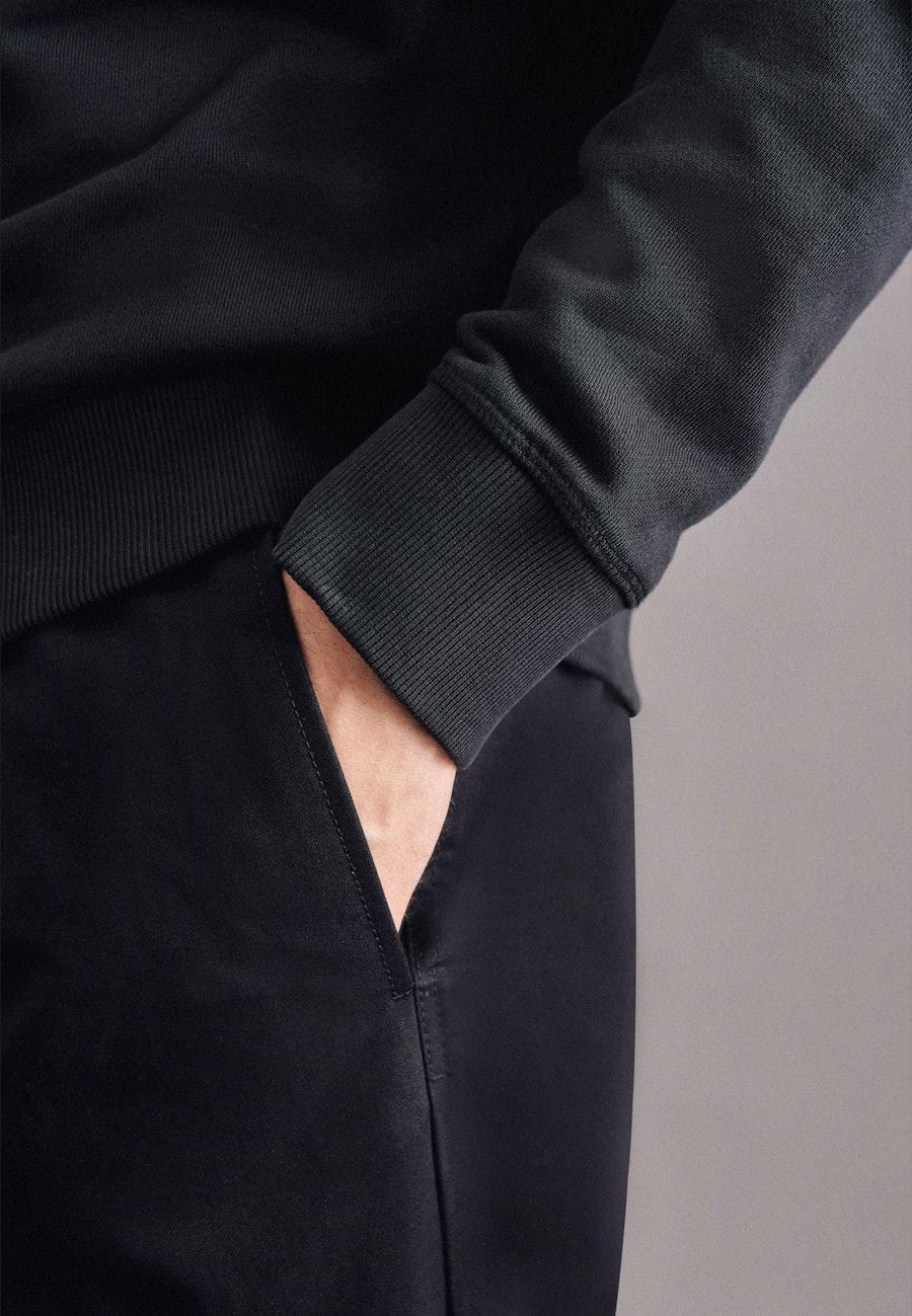 Rundhals Pullover in Schwarz |  Seidensticker Onlineshop