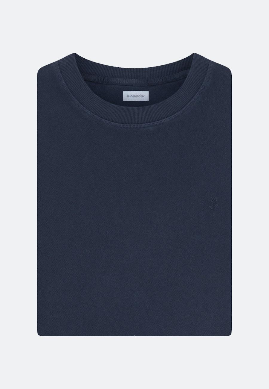 Rundhals Pullover aus in Dunkelblau |  Seidensticker Onlineshop