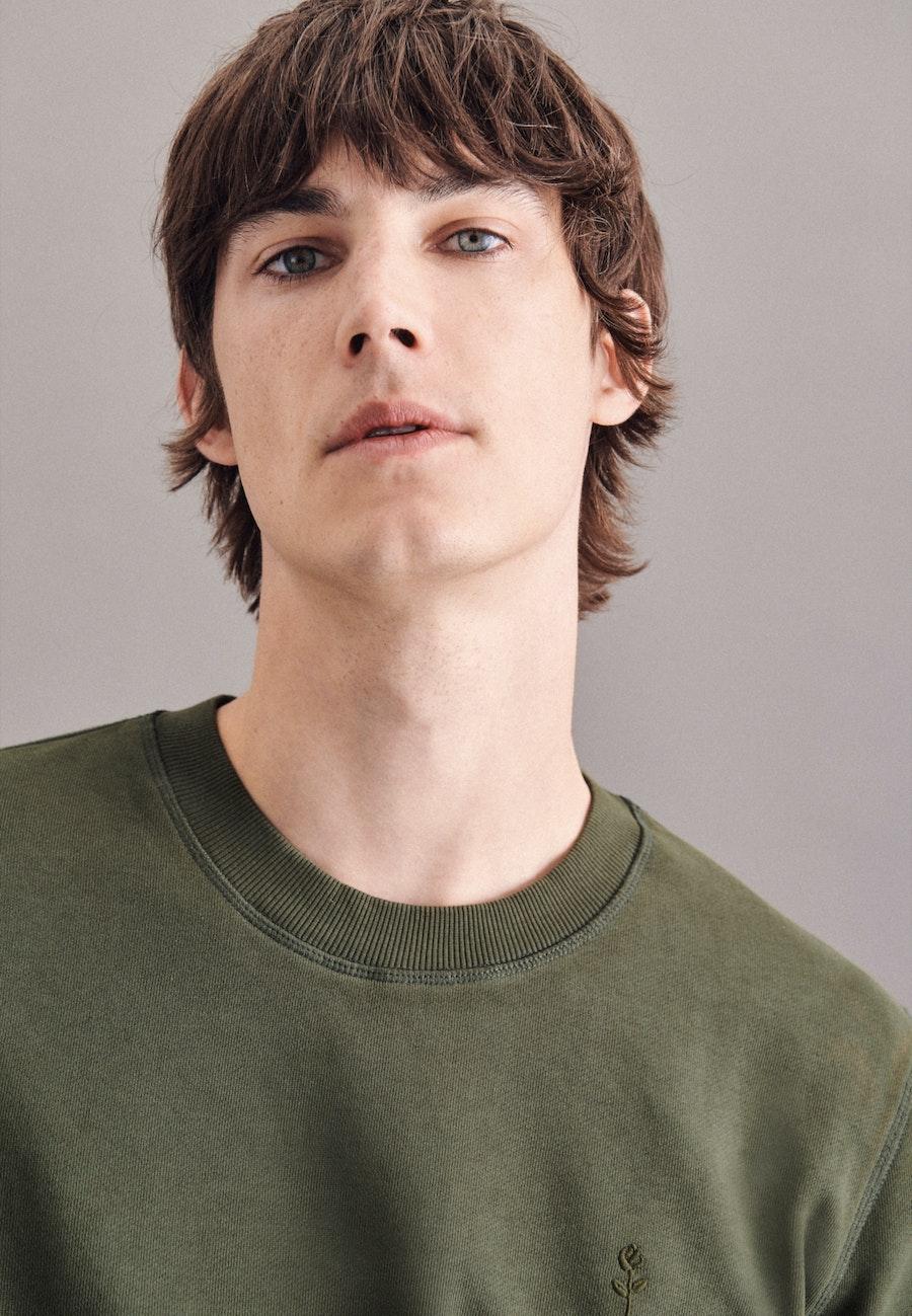Rundhals Pullover aus in Grün    Seidensticker Onlineshop