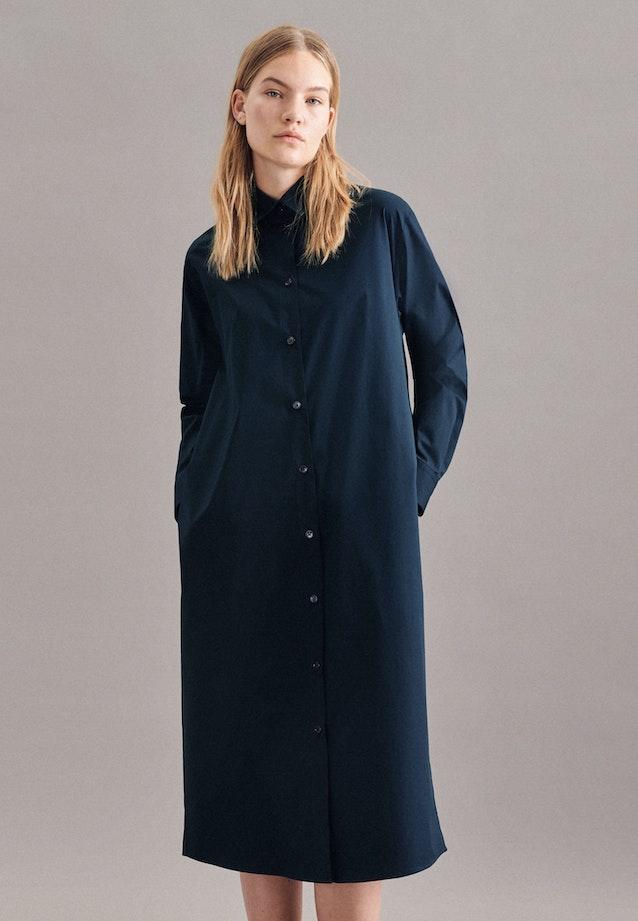 Poplin Maxi Dress made of cotton blend in Dark blue |  Seidensticker Onlineshop