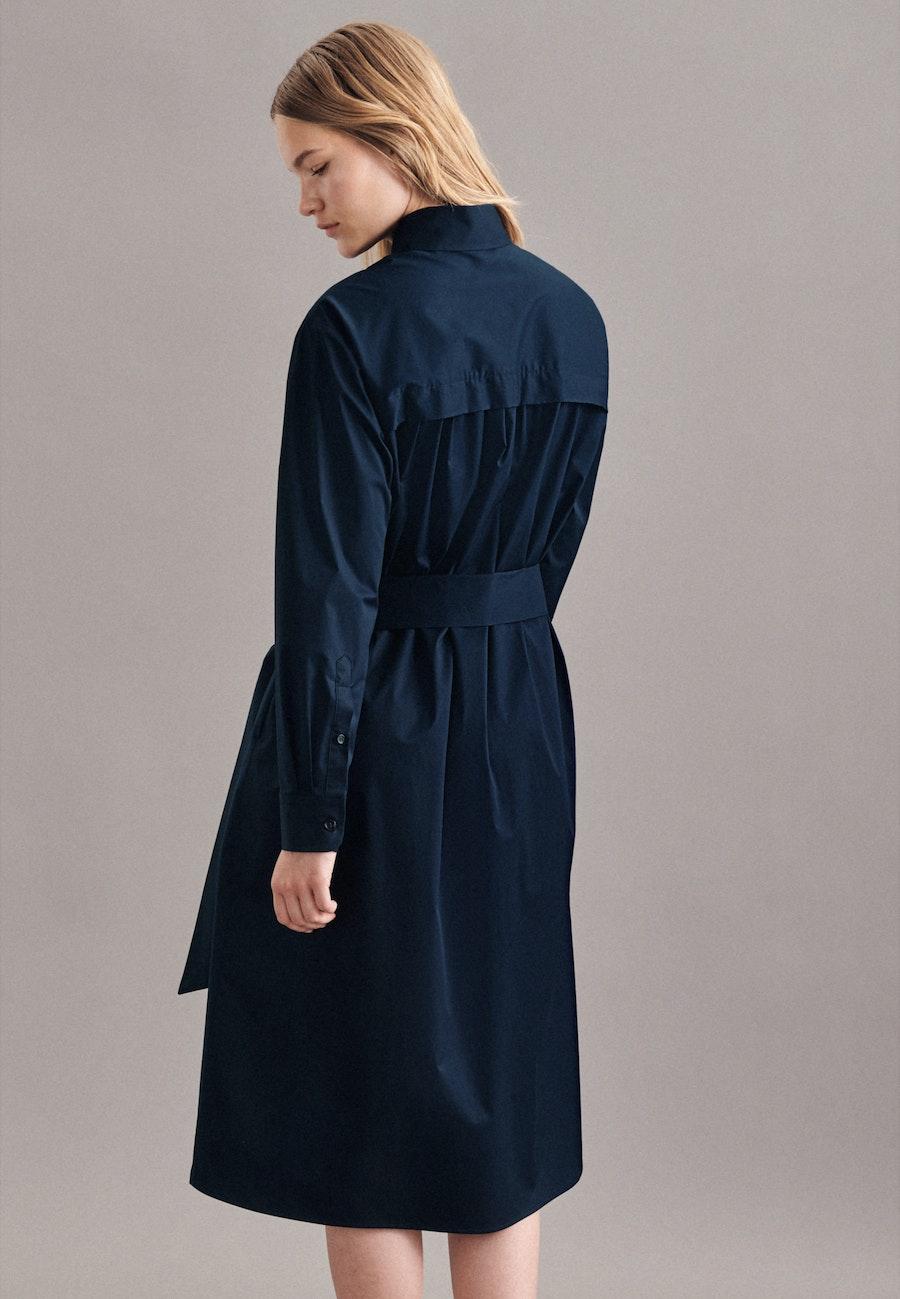 Popeline Maxi Kleid aus Baumwollmischung in Dunkelblau |  Seidensticker Onlineshop