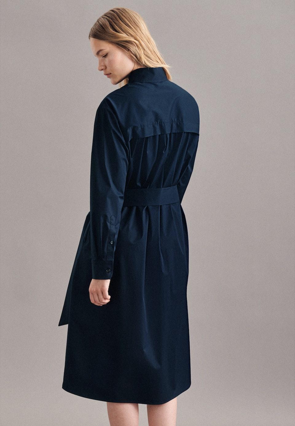 Popeline Maxi Kleid aus Baumwollmischung in Dunkelblau    Seidensticker Onlineshop
