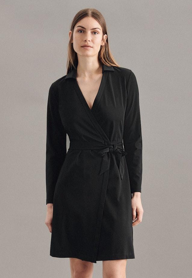 Jersey Midi Dress made of cotton blend in Schwarz    Seidensticker Onlineshop