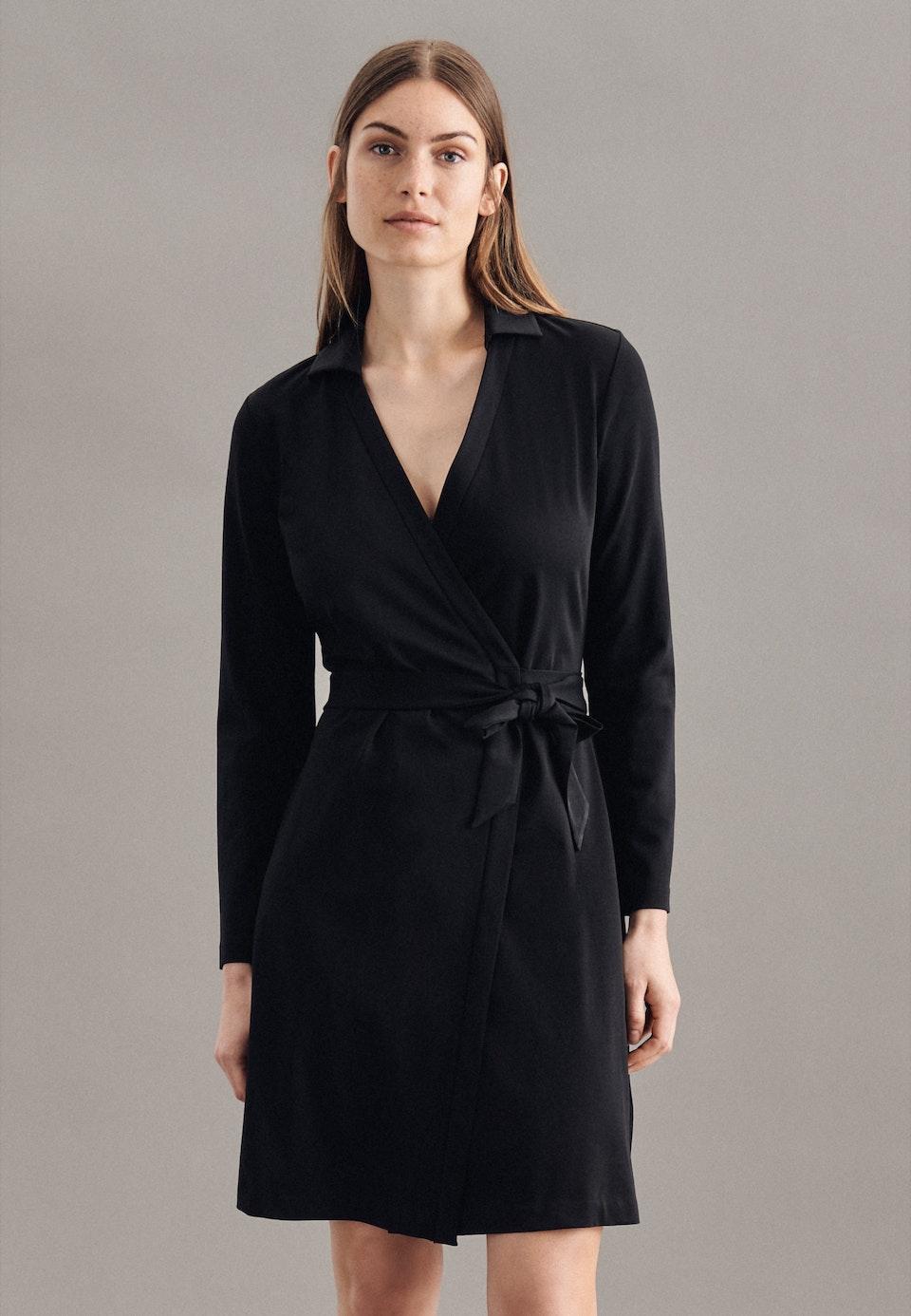 Jersey Midi Kleid aus Baumwollmischung in Schwarz |  Seidensticker Onlineshop