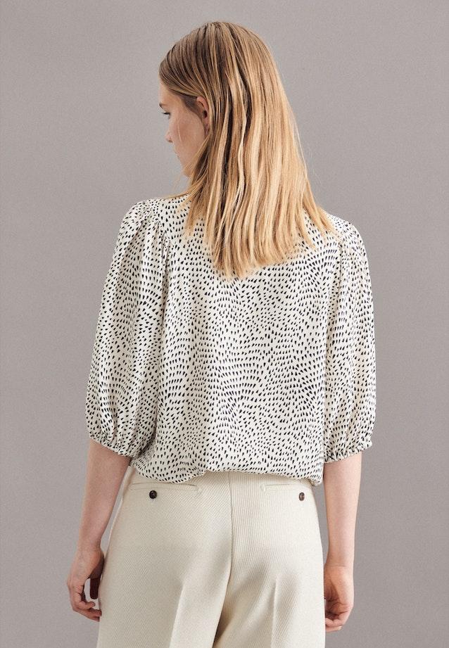Short sleeve Crepe Shirt Blouse made of 100% Viscose in Ecru |  Seidensticker Onlineshop