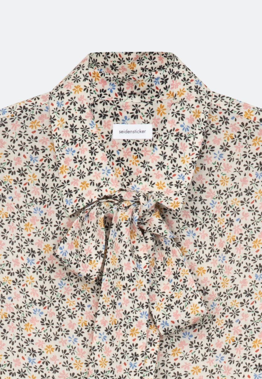 Krepp Schluppenbluse aus Viskose & Wolle in Ecru |  Seidensticker Onlineshop