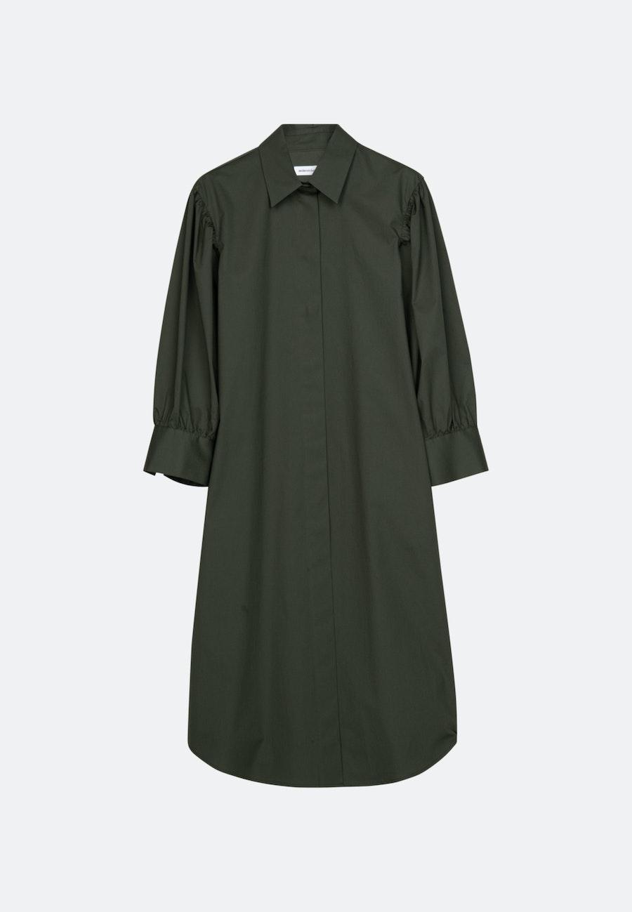 Popeline Maxi Kleid aus Baumwollmischung in Grün |  Seidensticker Onlineshop