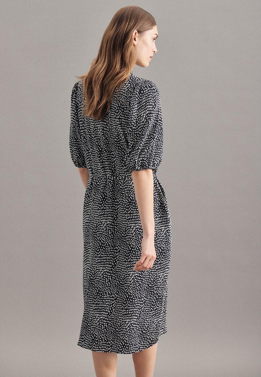 Krepp Maxi Kleid aus 100% Viskose in Schwarz |  Seidensticker Onlineshop