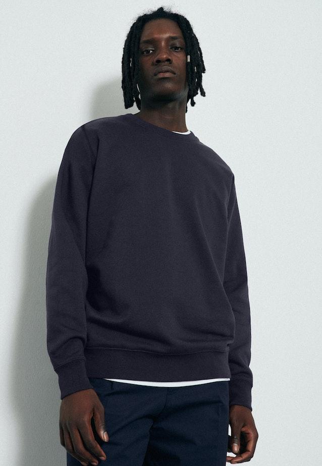 Rundhals Sweater aus 100% Baumwolle in Dunkelblau |  Seidensticker Onlineshop