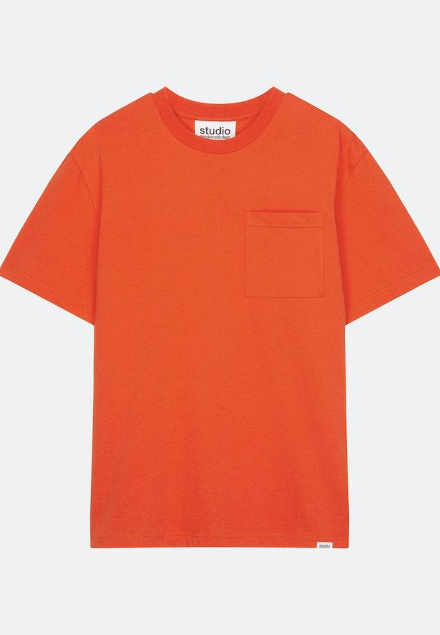Rundhals T-Shirt aus 100% Baumwolle in Orange |  Seidensticker Onlineshop