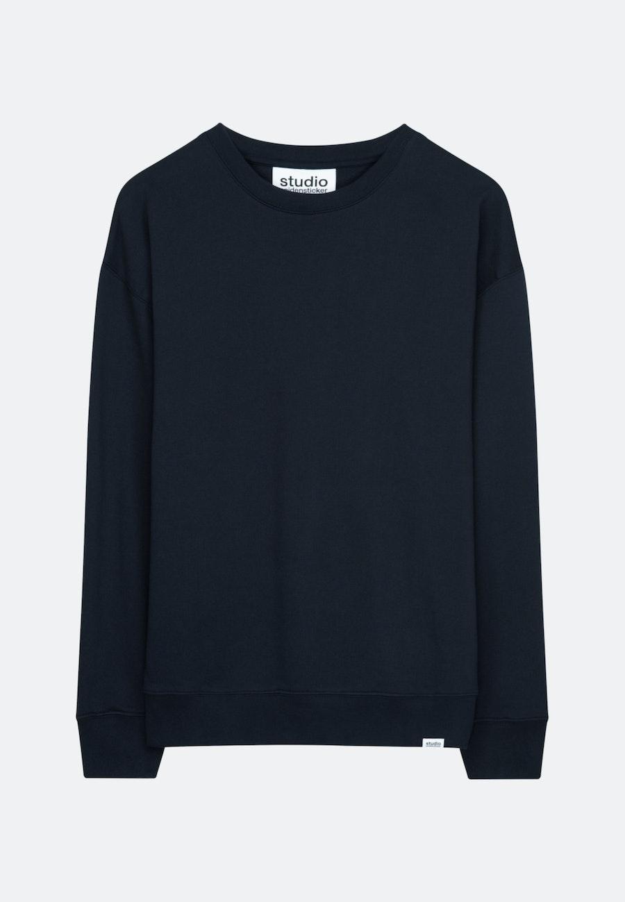 Rundhals Sweater Oversized fit 100% Baumwolle in Dunkelblau    Seidensticker Onlineshop