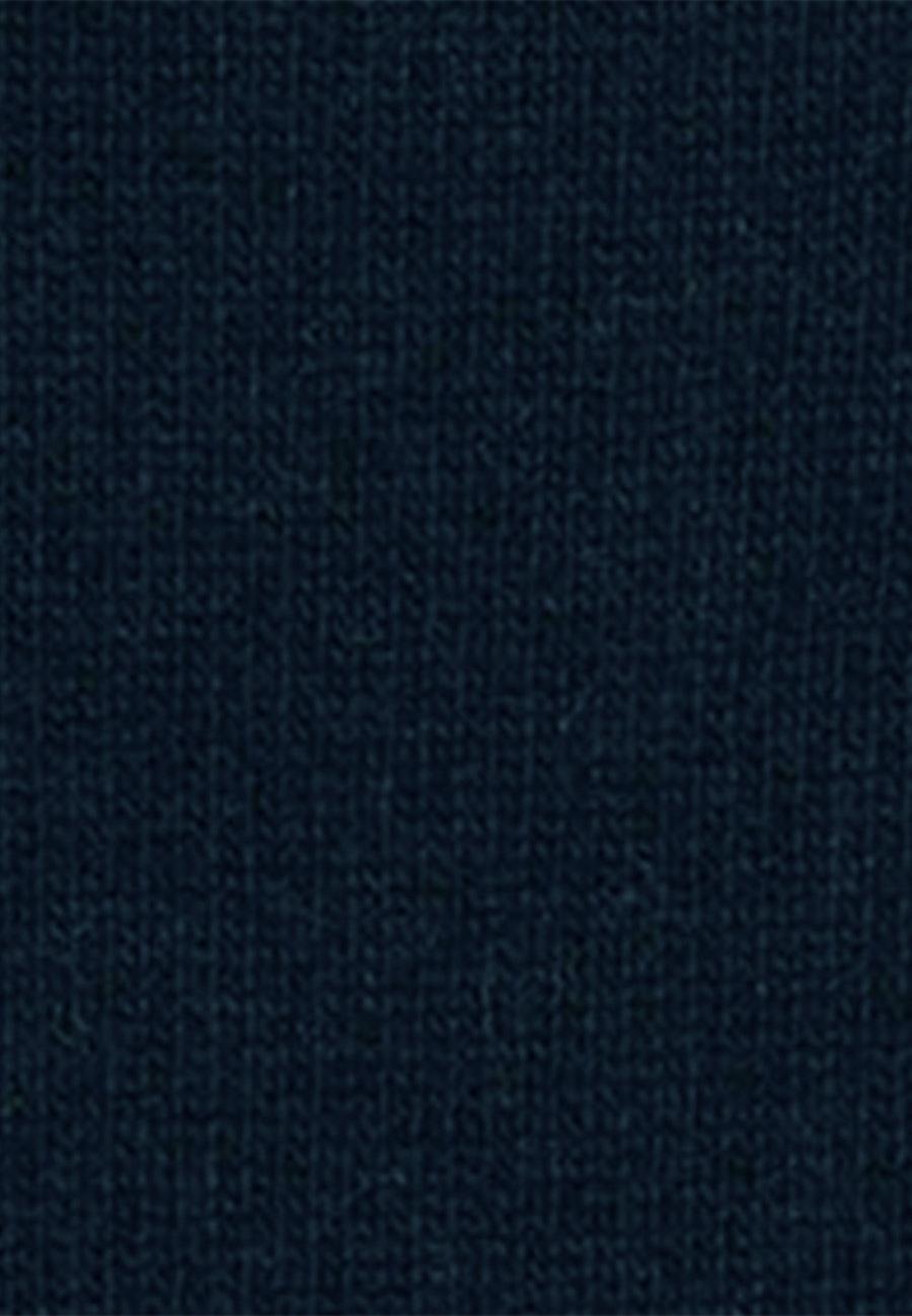 Rundhals Pullover Lammwollmischung in Dunkelblau |  Seidensticker Onlineshop