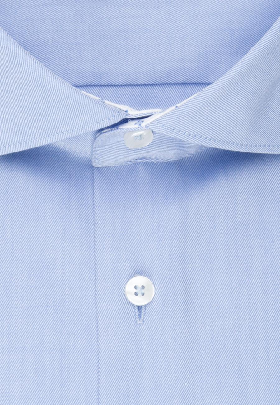 Bügelfreies Twill Business Hemd in Slim mit Kentkragen in Hellblau |  Seidensticker Onlineshop