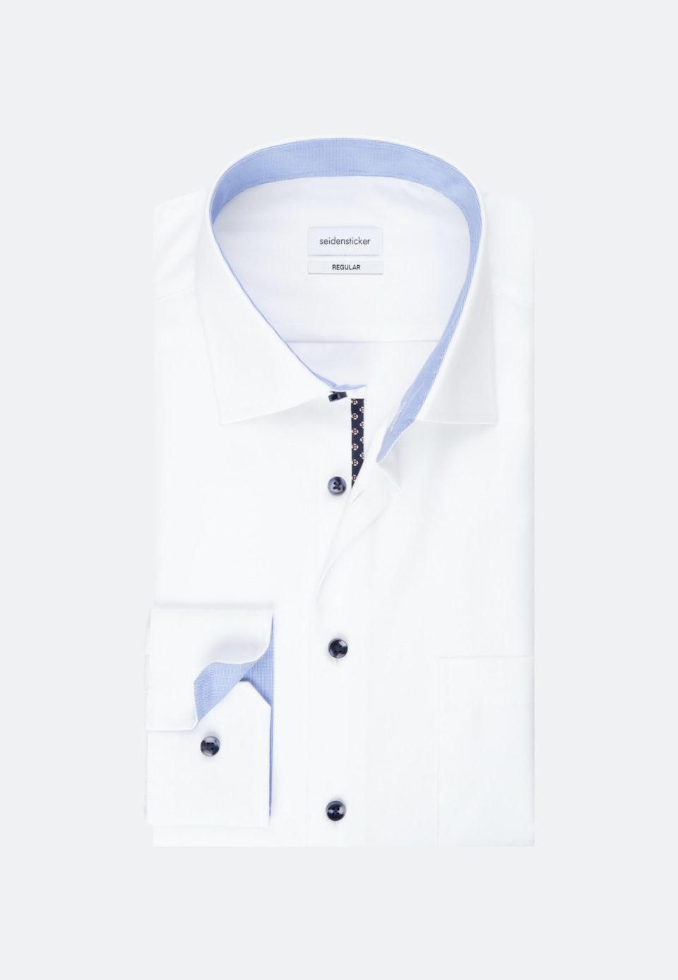 Bügelfreies Popeline Business Hemd in Regular mit Kentkragen und extra langem Arm in Weiß    Seidensticker Onlineshop