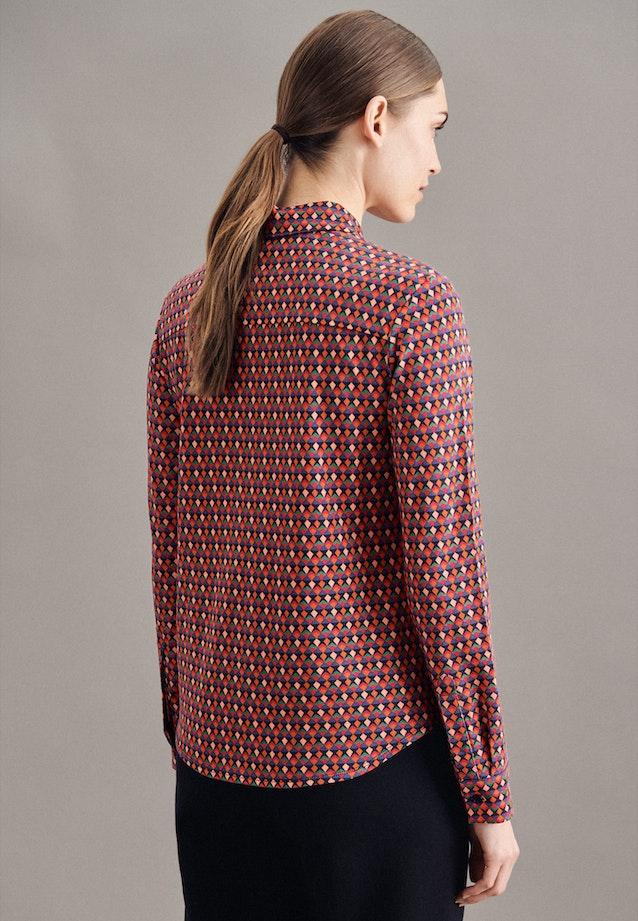 Jersey Hemdbluse aus Baumwollmischung in Dunkelblau    Seidensticker Onlineshop