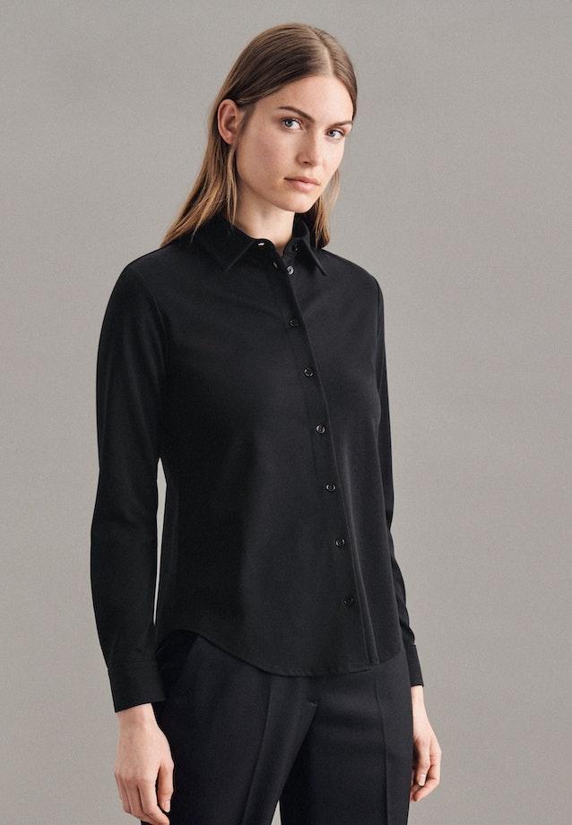 Jersey Hemdbluse aus Baumwollmischung in Schwarz    Seidensticker Onlineshop