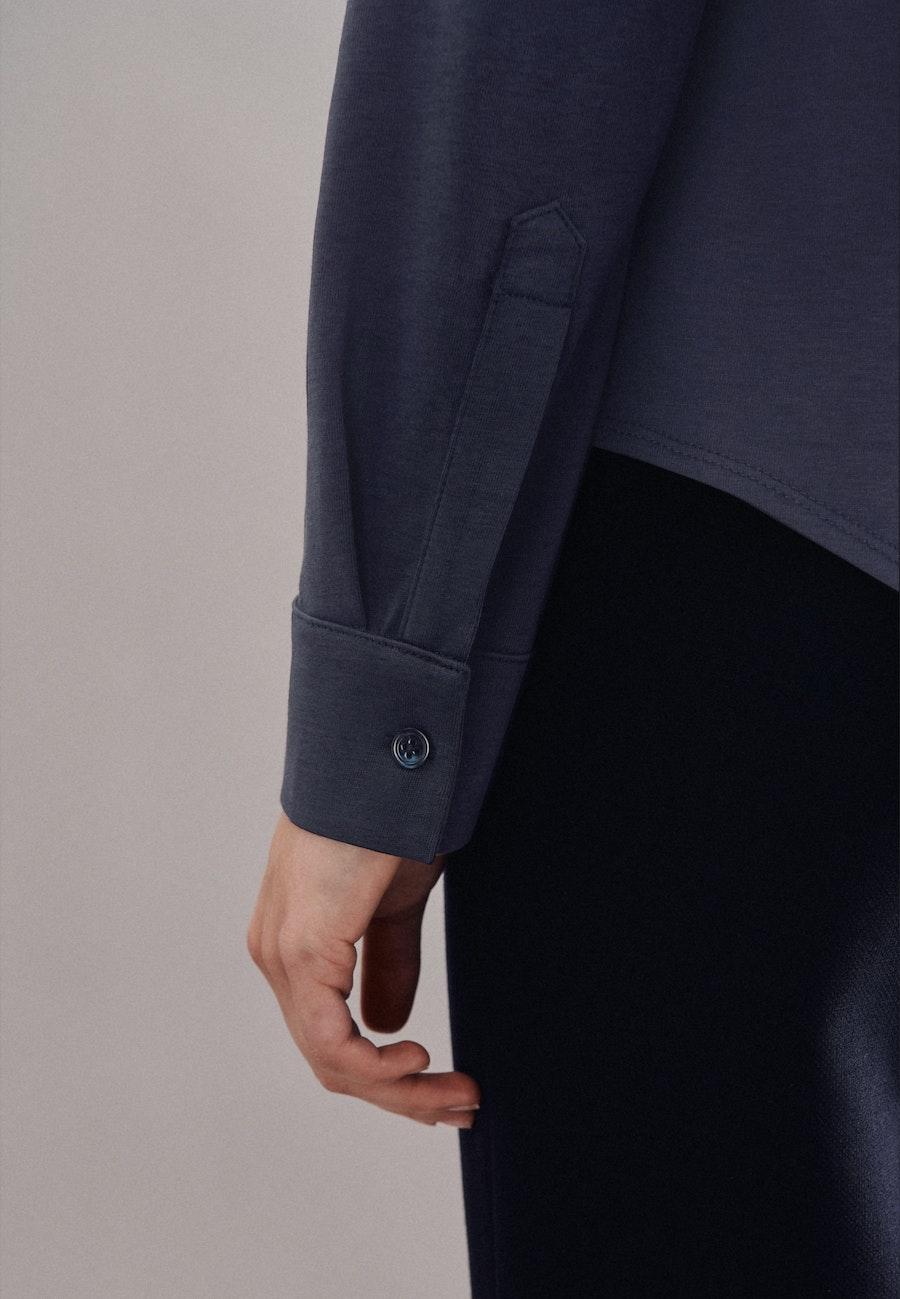 Jersey Hemdbluse aus Baumwollmischung in Dunkelblau |  Seidensticker Onlineshop