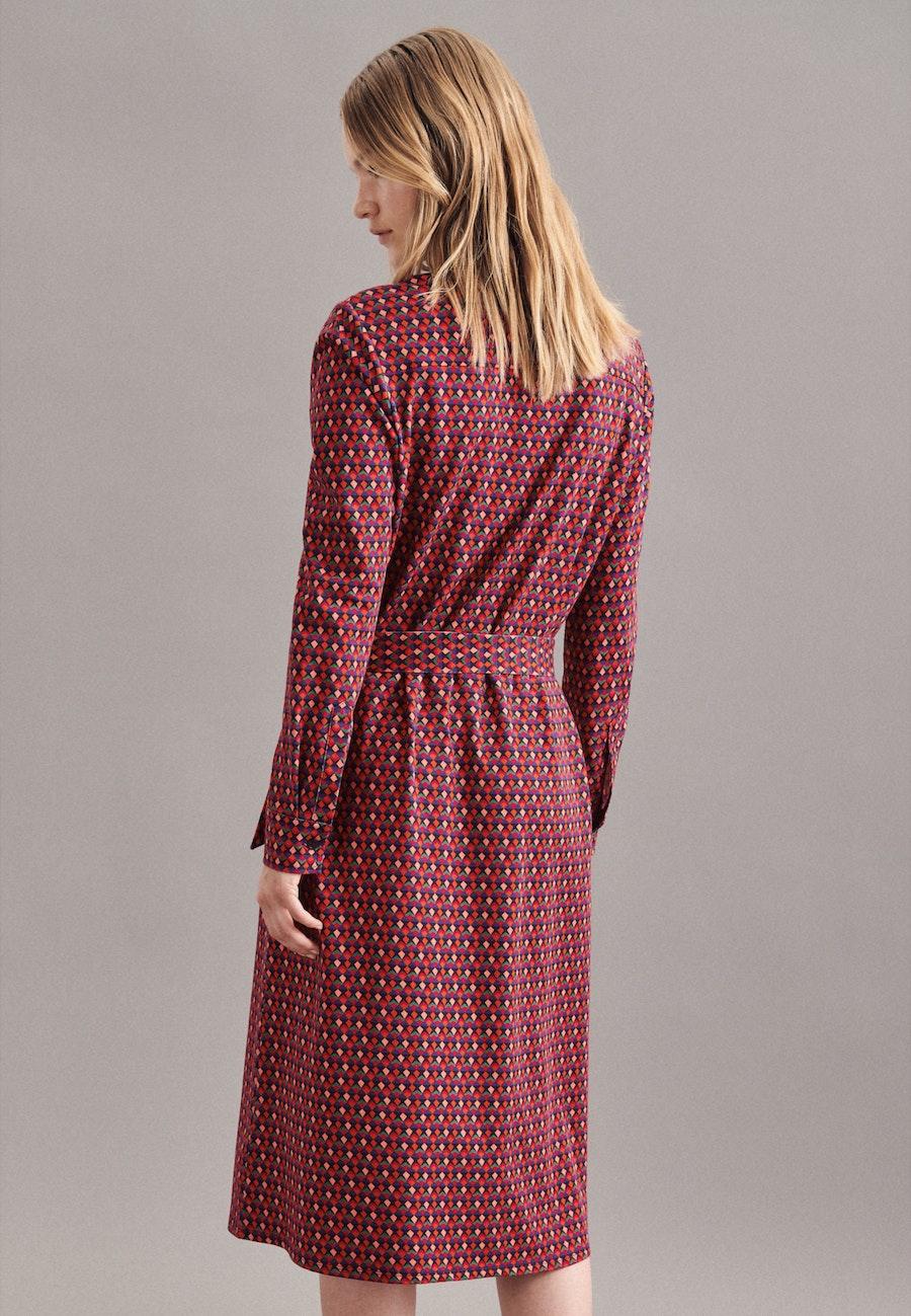 Jersey Midi Kleid aus Baumwollmischung in Dunkelblau |  Seidensticker Onlineshop