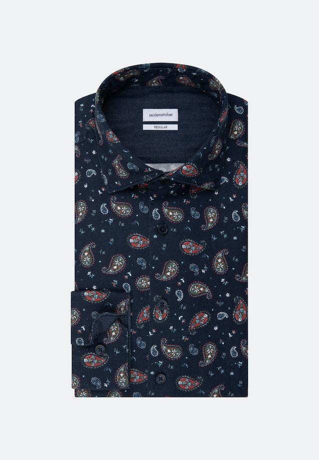 Twill Casual Hemd in Regular mit Kentkragen in Orange |  Seidensticker Onlineshop