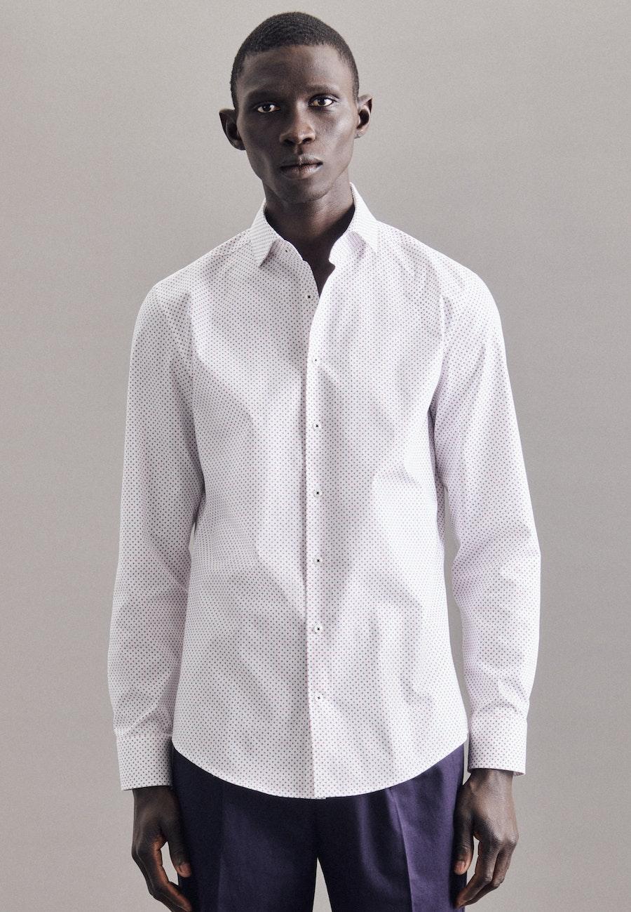 Twill Business Hemd in Slim mit Kentkragen in Dunkelblau    Seidensticker Onlineshop