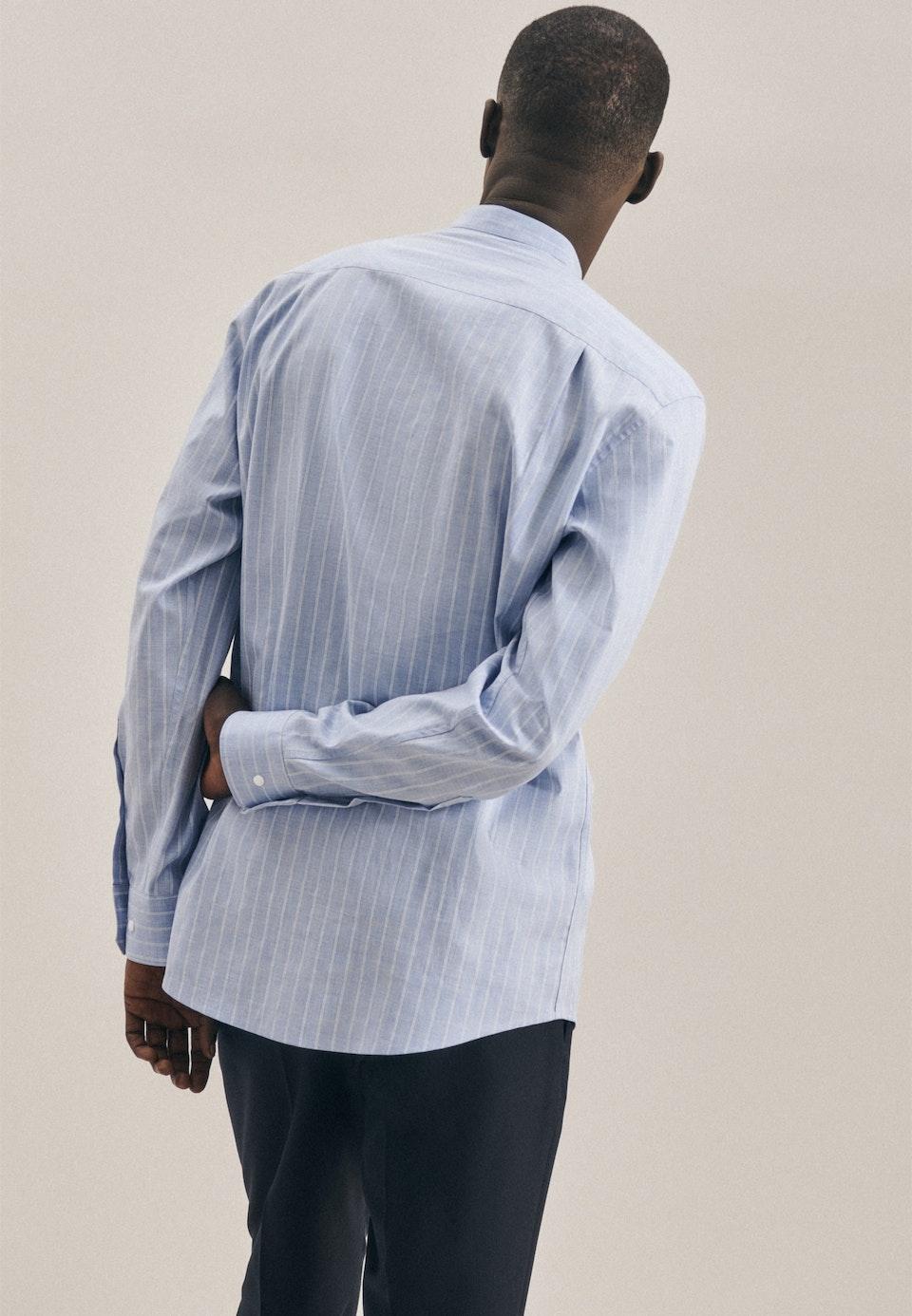 Twill Business Hemd in Regular mit Stehkragen in Hellblau    Seidensticker Onlineshop