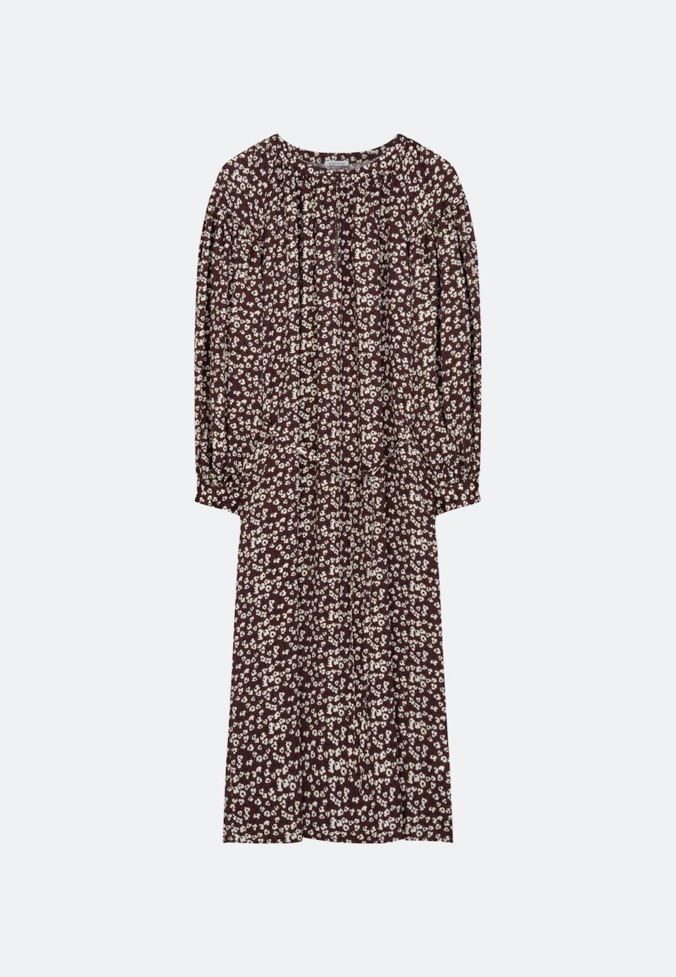 Krepp Satin Midi Kleid aus 100% Viskose in Rot |  Seidensticker Onlineshop