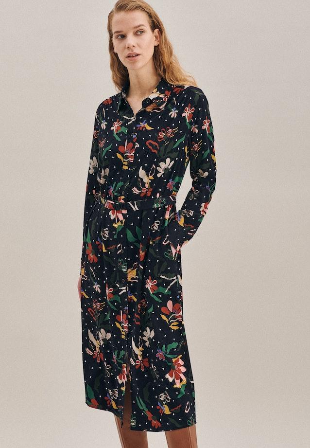 Krepp Maxi Kleid aus Viskosemischung in Schwarz |  Seidensticker Onlineshop