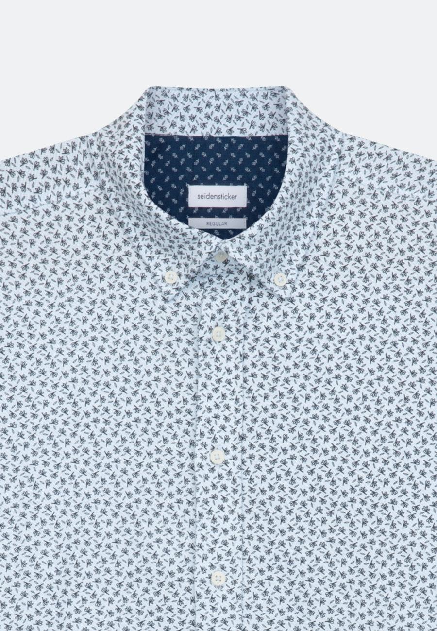 Jerseyhemd in Regular mit Button-Down-Kragen in Dunkelblau |  Seidensticker Onlineshop