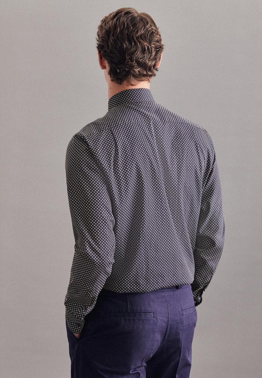 Popeline Business Hemd in Regular mit Kentkragen und extra langem Arm in Dunkelblau |  Seidensticker Onlineshop