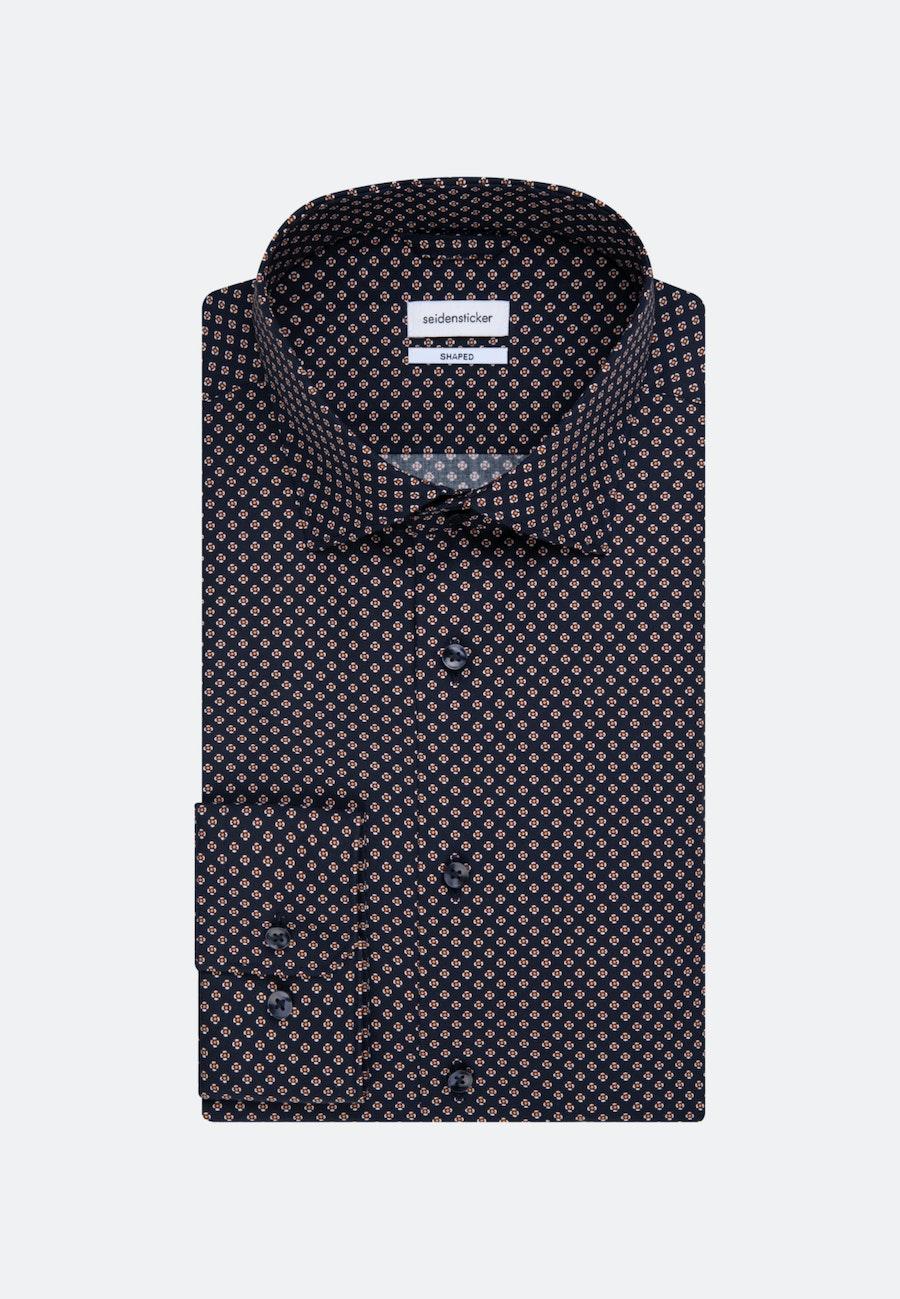 Popeline Business Hemd in Shaped mit Kentkragen und extra langem Arm in Dunkelblau |  Seidensticker Onlineshop