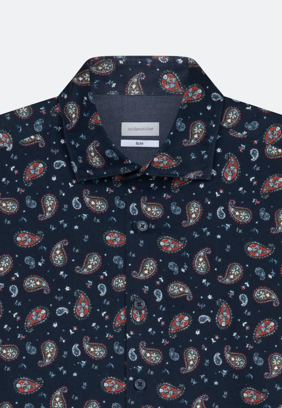 Twill Casual Hemd in Slim mit Kentkragen in Orange    Seidensticker Onlineshop